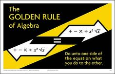 The Golden Rule of Algebra Poster