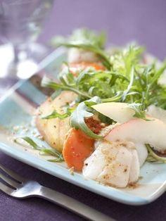 Recette Salade de Saint Jacques à la roquette, notre recette Salade de Saint Jacques à la roquette - aufeminin.com