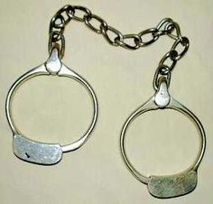 1882 Leg Irons Shackles. Irons, Photo Galleries, Personalized Items, Bracelets, Silver, Jewelry, Jewlery, Money, Bijoux
