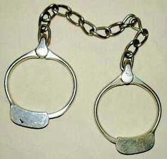 1882 Leg Irons Shackles. Irons, Photo Galleries, Personalized Items, Bracelets, Silver, Jewelry, Jewlery, Jewerly, Iron