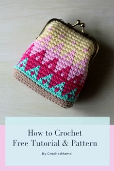 Crochet Purses Ideas Crochet Tapestry Kiss Lock Coin Purse Tutorial and Free Pattern - Purse Patterns Free, Coin Purse Pattern, Coin Purse Tutorial, Crochet Purse Patterns, Bag Pattern Free, Wallet Pattern, Pouch Tutorial, Pattern Sewing, Crochet Wallet