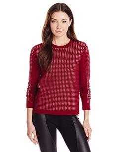 BCBGMAXAZRIA Women's Valentin Jaquard Pullover Sweater, Deep Cranberry Combo, X-Small BCBGMAXAZRIA http://www.amazon.com/dp/B00L646HME/ref=cm_sw_r_pi_dp_2U-lub0MWDMN9