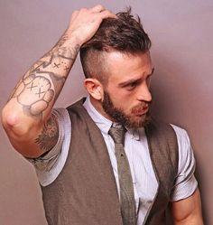 Hairstyles with Beards #Men'sFashion #Jewelryland.com