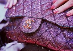 purple #sparkle bag