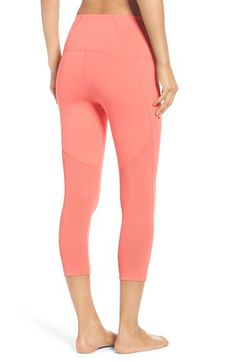 Zella Zella 'Live In - Sultry' High Waist Mesh Crop Leggings available at #Nordstrom