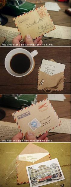 40 mini brown air mail envelopes. $15.00, via Etsy.