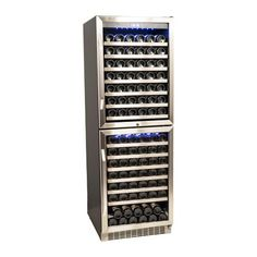 EdgeStar 155 Bottle 24  Built-In Dual Zone Double Door Wine Cooler