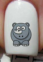 Rhino nail art