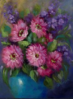 """Daily Paintworks - """"Dazzling Daisies"""" - Original Fine Art for Sale - © Bobbie Koelsch"""