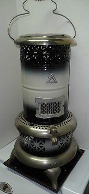 Antique #1632 Black & White Enamel Perfection Kerosene Oil Heater