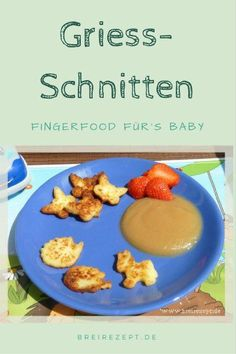 Süße Grieß-Schnitten Semolina slices can be cut out like little biscuits at will. If you prepare the semolina without sugar, babies as little as 6 months of age can nibble on the semolina slice Semolina Recipe, Fingerfood Baby, Baby Food Combinations, Baby Food By Age, Cut Recipe, Lunch Boxe, Baby Snacks, Baby Finger Foods, Maila