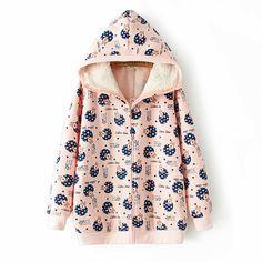 Fabric Material: Cotton  Color: pink, white, blue  Size: Free  Shoulder: 38 cm Bust: 122 cm Sleeve: 62 cm Length: 69 cm