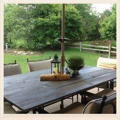diy rustic patio table top, painted furniture, rustic furniture