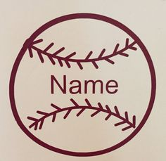 Custom Baseball Decal by CountryCottageGC on Etsy