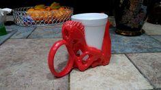 T-Rex Skull Coffee Cup Holder  3d Printed Mug by MirskyArtGallery