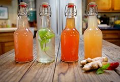 If you are beginning with dehydrated water kefir grains, start here: Dissolve 1/4 cup of organic sugar in 1 quart of water in a 1 Quart JarCool to 68°-85° FEmpt