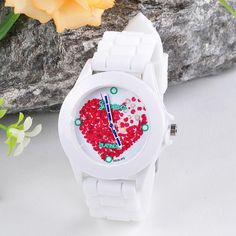 1.06$ (Buy here: http://alipromo.com/redirect/product/olggsvsyvirrjo72hvdqvl2ak2td7iz7/32787714166/en ) 2016 Cheap Price watch Women Silicone Jelly Red Heart petals Quartz Analog Sports Wrist Watch watch women luxury brand relojes for just 1.06$