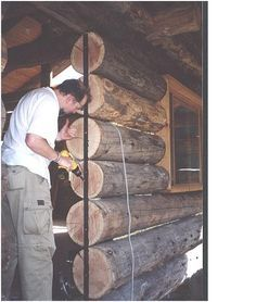 """Log Cabin Construction by Paul Kahle In 1974 I took a course offered by the University of Washington's Experimental College called """"Log Construction"""". It was taught by a man named… Diy Log Cabin, Log Cabin Plans, How To Build A Log Cabin, Small Log Cabin, Building A Cabin, Tiny House Cabin, Log Cabin Homes, Log Cabins, Rustic Cabins"""