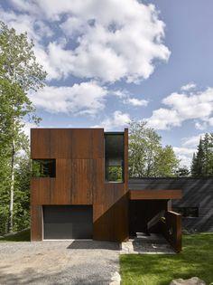 House at Charlebois Lake by Paul Bernier. Photograph by James Brittain