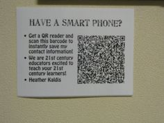 Using QR scan codes at meet the teacher, so parents can store all your information such as phone number, conference time, and class schedule. What a fun idea for meet the teacher.