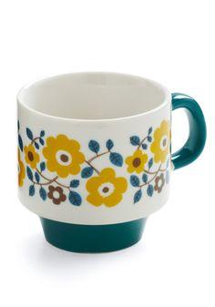 tea cup -- teal