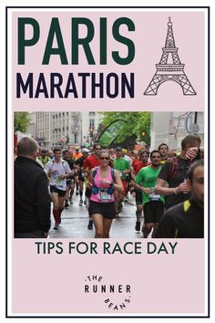 """""""Is running the Paris Marathon is on your bucket list? Note down these expert tips on running the Paris Marathon like a pro. Race day tips & more inside. #parismarathon #adviceforparismarathon #marathondeparis #parismarathontips #therunnerbeans """" Marathon Training Diet, Marathon Diet, Training Plan, Running For Beginners, Running Tips, Trail Running, Marathon Motivation, Training Motivation, Duathlon Training"""
