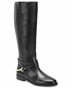 Lauren Ralph Lauren Jenny Tall Shaft Pull-On Riding Boots in Dark Brown
