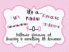 Learning is Something to Treasure: It's finally here!! 400 Follower GIVEAWAY!!!