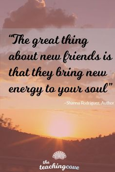Happy Monday! When was the last time you brought new people into your life? Want motivational posters that you can use as visual writing prompts for your English class? Click the pin or head straight to https://www.teachingcove.com/motivate/friends/ to read today's post about the impact of new friendships on our lives. Join The Teaching Cove for FREE English teaching, motivational and organizational resources, too!