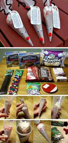 DIY Reindeer Cocoa Cones | Click Pic for 29 DIY Holiday Gift Ideas for Men | DIY…