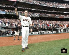 Buster Posey receives his 2012 MVP Award