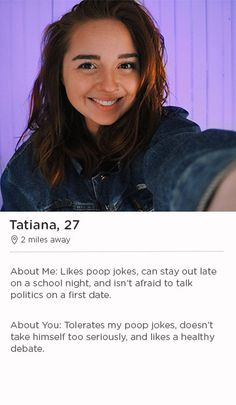 Dating site verbiage