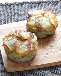 Un millefeuille de pommes de terre à servir en accompagnement d'une viande par exemple.
