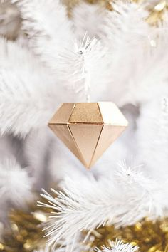 DIY Balsa Wood Diamond Ornament