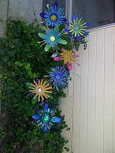 Tin cans made into flowers