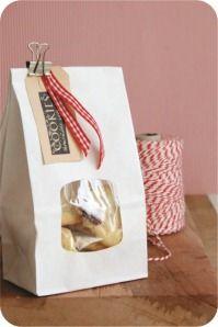 Embalagem Biscoitos de Natal - Saco de papel