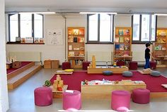 Really different than traditional centers. Head Start Classroom, Classroom Setting, Classroom Design, Classroom Organization, Classroom Decor, Learning Spaces, Learning Environments, Learning Centers, Toddler Classroom