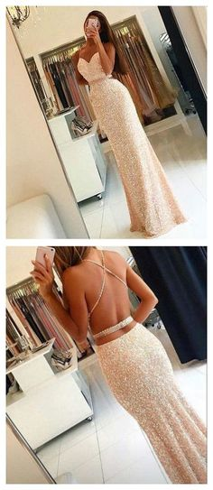 New Arrival Prom Dress,Prom dress,sequin prom dress, long woman dresses,open back prom dresses 2017 Sequin Prom Dresses, Mermaid Prom Dresses, Dress Prom, Prom Gowns, Party Dress, Dress Formal, 2 Piece Prom Dress, Champagne Prom Dresses, Petite Formal Dresses