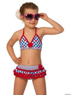 traje de baño de punto para niñas