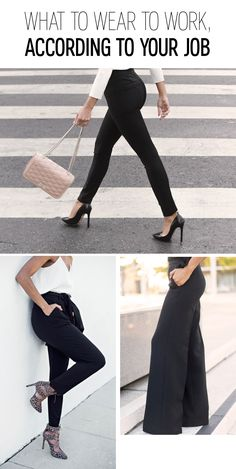 Finding the right look for your office can be easy with the right tips. Which profession are you in: Are you in a creative, a trend-setter, or are you a corporate boss? For the creative, a cool pair of cropped pants and a flowy tank with a blazer should be your go-to uniform for work. For the trendsetter, strut into your office in a wide leg dress pant and fitted blouse. If you're bound to be the next CFO of a huge company, opt for a classic sleek shape and a crisp button-up shirt.