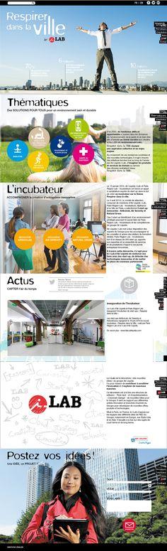 ILAB AIR LIQUIDE : site Respirer dans la ville. Direction artistique, conception, réalisation, développement / Agence Le Square
