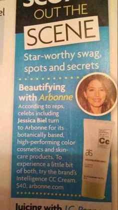 Jessica Biel uses Arbonne and she always looks flawless!