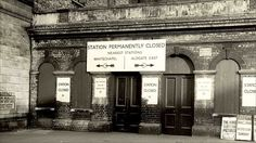 abandoned London tube stations - St Mary's, opened 1884, closed 1938. It was used as an air raid shelter and bombed during WWII.