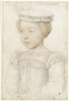Elisabeth (1545-1569), daughter of Henri II, wife of King Philip II of Spain. 1550 Francois Clouet