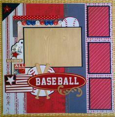 All+American+Baseball+12x12+premade+scrapbook+by+ohioscrapper,+$15.00