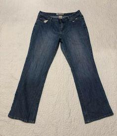 6fcb758d9fbb6b Womens Faded Glory Blue Denim Stretch Boot Cut Distressed Jeans...Size 14   FadedGlory  BootCut