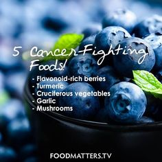 Cancer-fighting foods should not be ignored! Your body will thank-you for adding some more of these goodies into your diet! What would you add to the list? Kidney Health, Health Diet, Health And Nutrition, Health And Wellness Coach, Health And Wellbeing, Healthy Lifestyle Quotes, Cancer Fighting Foods, Healthy Tips, Healthy Foods