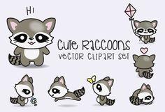 Prime Vector Clipart Kawaii ratons par LookLookPrettyPaper
