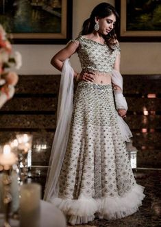 Niti Taylor In Kalki Powder Blue Lehenga In Scallop Embroidered Net With Matching Net Blouse With Fancy Attached Dupatta Latest Bridal Lehenga, Designer Bridal Lehenga, Bridal Lehenga Choli, Blue Lehenga, Net Lehenga, Ghagra Choli, Anarkali, Party Wear Lehenga, Party Wear Dresses