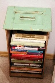 Turn an old drawer on its end and voila! | If you repaint it it could also look very gorgeous!